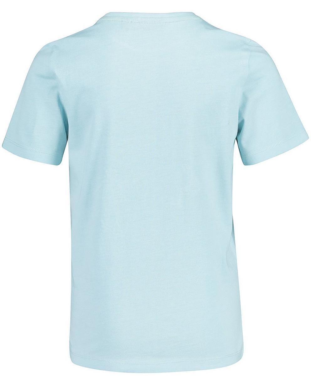 T-Shirts - Helltürkis - T-Shirt mit Print und Aufschrift